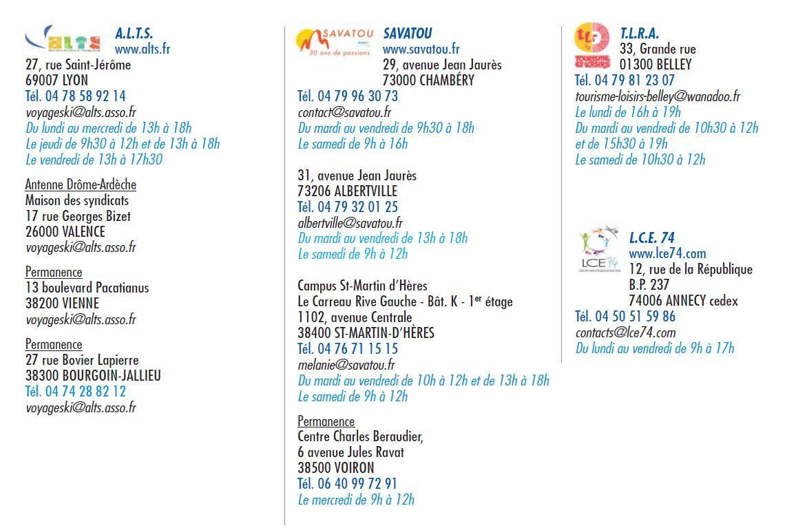 Carte Loisirs Dans Votre Region Kiosque Info C G O S Rhone Alpes