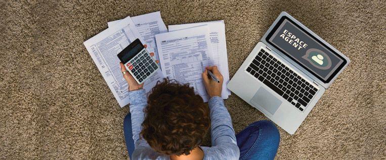 La notification de la somme à déclarer aux impôts est accessible sur votre Espace agent