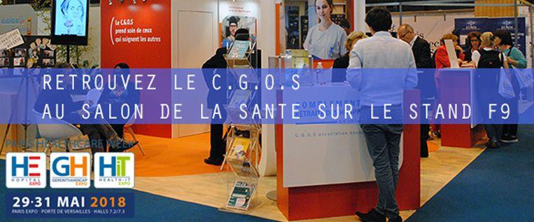 Le C.G.O.S au salon de la Santé du 29 au 31 mai à Paris