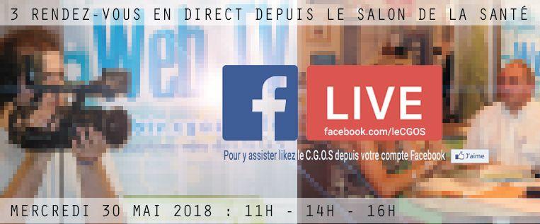 WebTv en direct  sur le Facebook live du C.G.O.S depuis le salon de santé